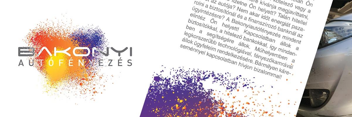 Bakonyi autófényezés - logo, szórólap tervezés