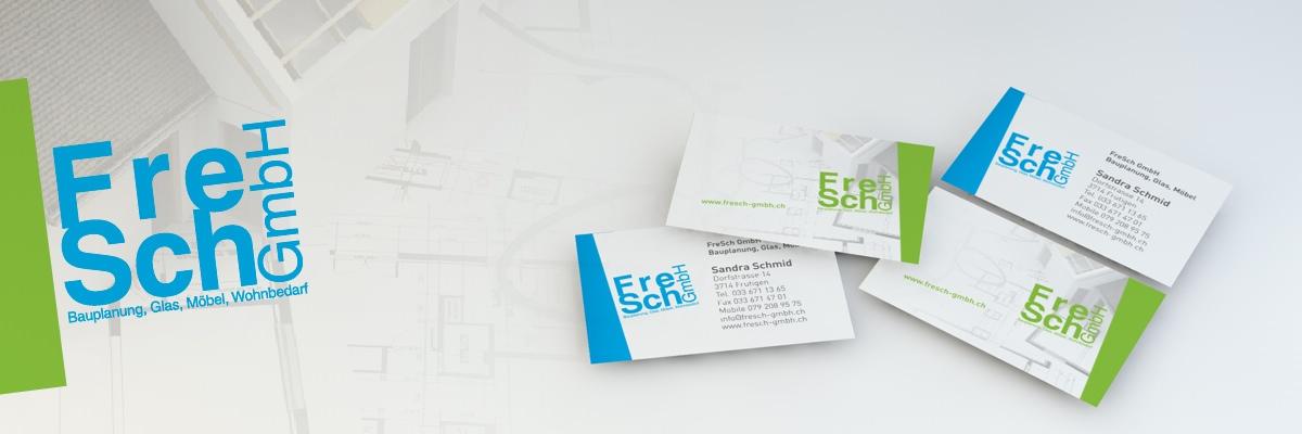FreSch GmbH - logo, névjegykártya, webdesign