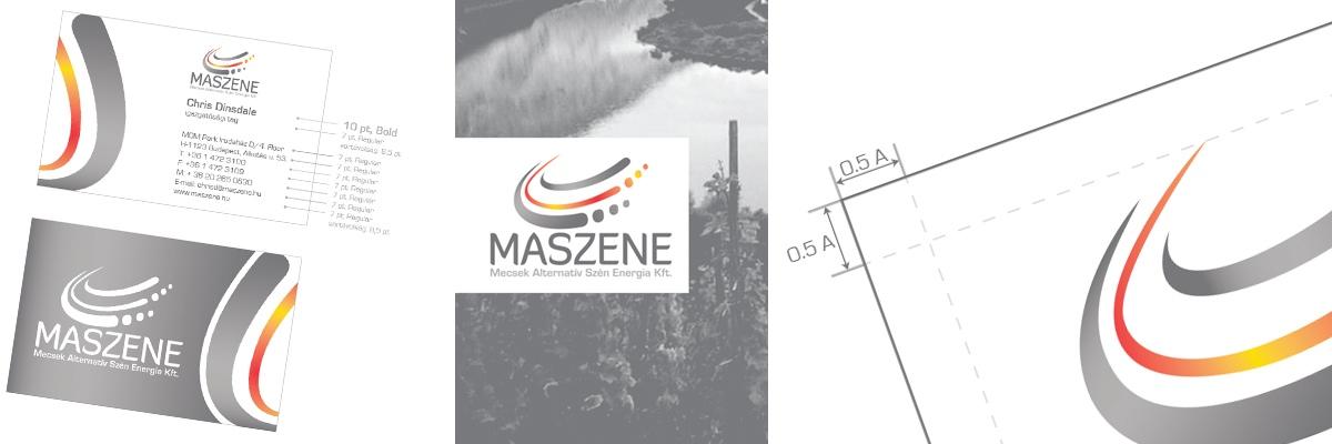MASZENE (Mecsek Alternatív Szén Energia Kft.) - arculattervezés, komplett arculati kézikönyv, információs táblák