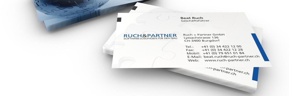 Ruch and Partner - névjegykártya
