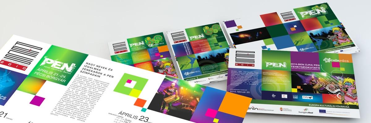 Pécsi Egyetemi Napok 2010 - Arculat, nyomdai anyagok, sajtóanyagok, webes reklámelemek
