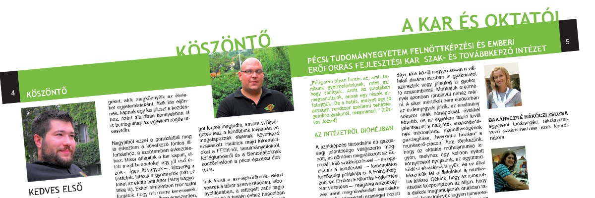 Pécsi Tudományegyetem FEEFI - kiadvány