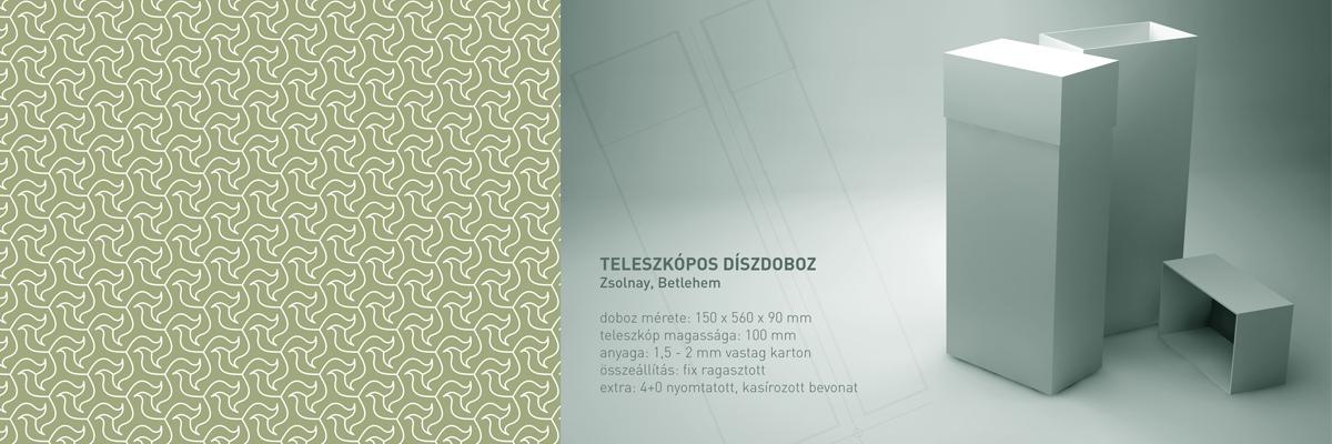 Zsolnay Porcelánmanufaktúra - csomagolás terv